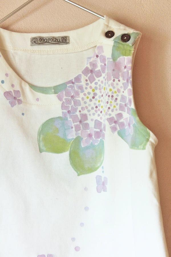 紫陽花 キッズノースリーブチュニック 110
