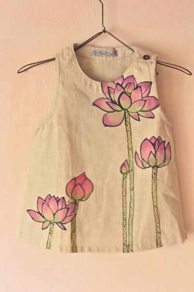 花はす 麻ベビーチュニック 70-90