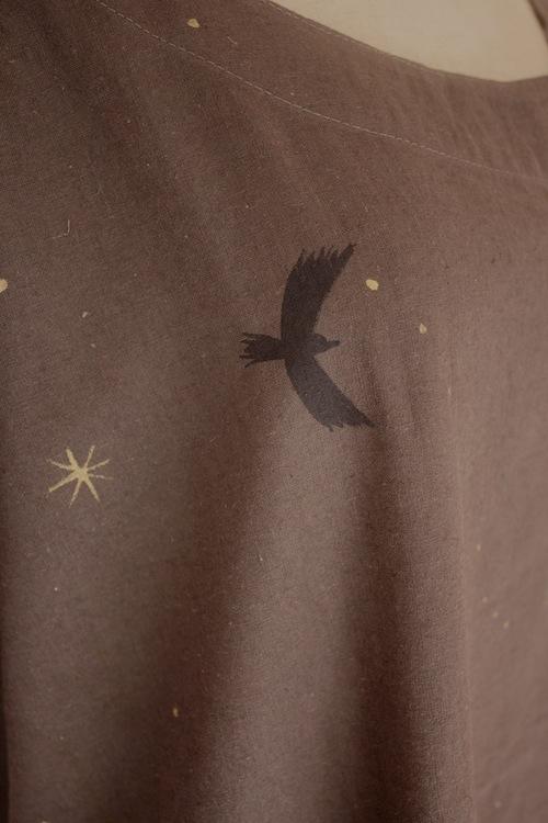 もみの木と星 濃色ゆるワンピ 中