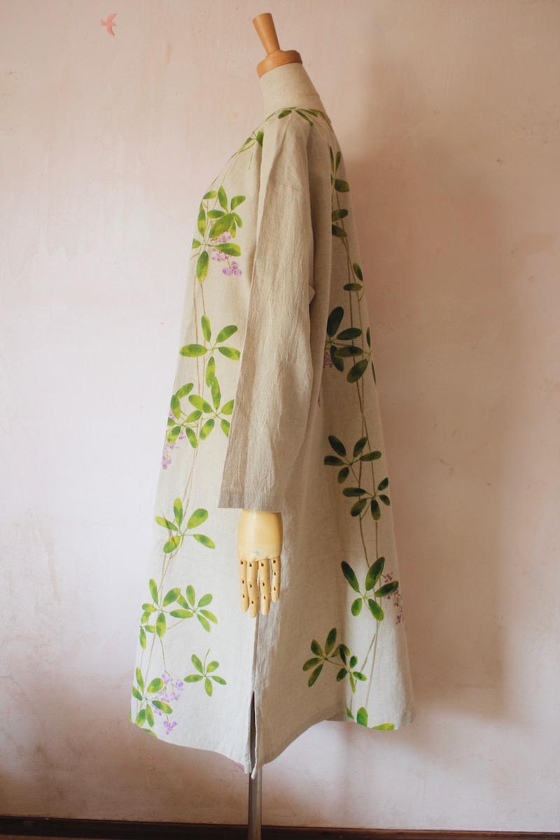 あけびの花 ゆるワンピ長袖 大