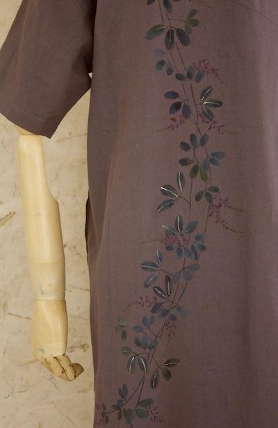 萩 半袖ゆるワンピ 濃色 小