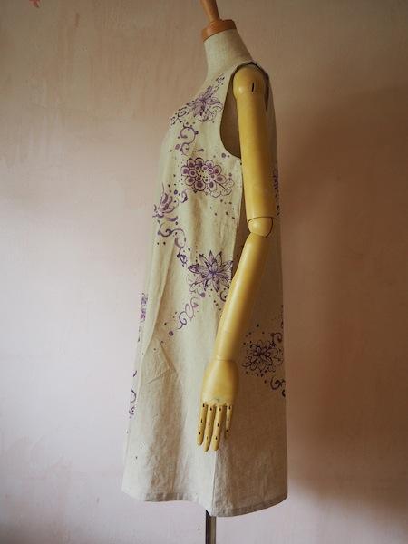 紫乱菊 ノースリーブワンピ 小
